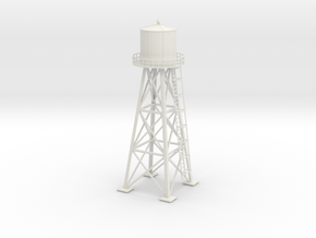 Water tower 01. HO Scale (1:87) in White Strong & Flexible