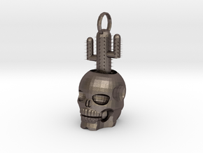 Skull Cactus 4 Cm in Stainless Steel