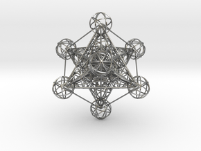 3D Metatron's Cube (small) in Raw Silver