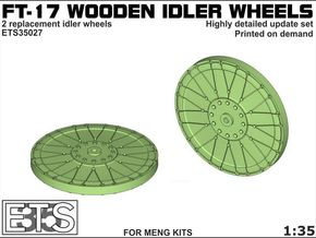 ETS35027 - FT-17 Idler (wooden) [1:35] in Frosted Extreme Detail