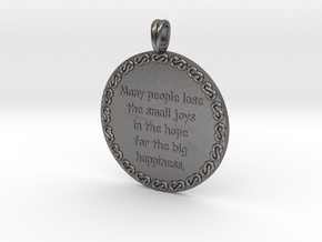 Many People Lose | Jewelry Quote Necklace. in Polished Nickel Steel