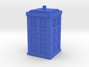 Tardis Desk Buddy in Blue Strong & Flexible Polished