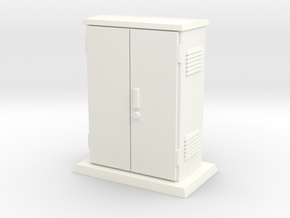 Padmount Electrical Box 01.  1:24 scale in White Strong & Flexible Polished