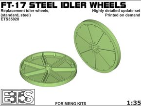 ETS35028 - FT17 - Steel Idler Wheels  [1:35] in Frosted Extreme Detail