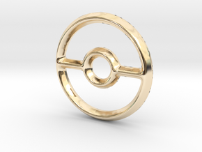 Pokeball (Open) Charm - 11mm in 14K Gold