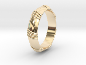 Ø0.650 inch/Ø16.51 mm Ring in 14k Gold Plated