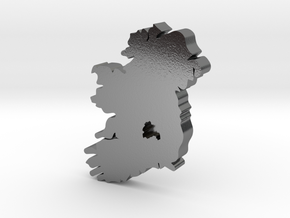 Laois  Earring in Polished Silver