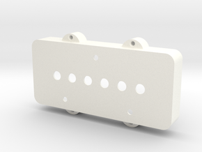 Jazzmaster Pickup Cover - Telecaster Bridge in White Strong & Flexible Polished