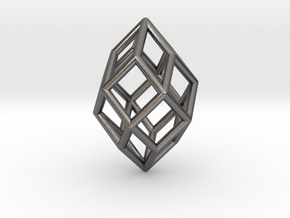 0490 Polar Zonohedron E [5] #001 in Polished Nickel Steel