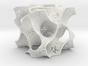Gyroid Mesh Pattern in White Strong & Flexible