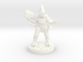 Xenng War-Caste Eradicator (15mm scale) in White Strong & Flexible Polished