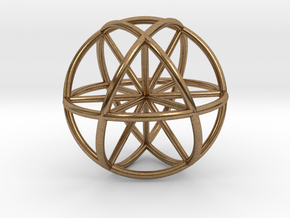Seed of Life - 6 Axis 30mm.stl in Raw Brass