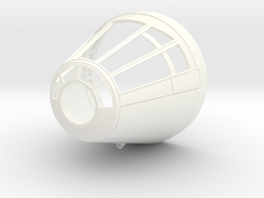 deAgo Millennium Falcon Cockpit Cone V2 in White Strong & Flexible Polished