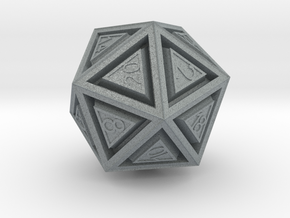 Dice: D20 in Polished Metallic Plastic