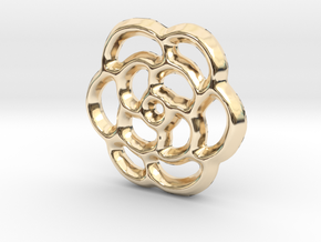 Camellia Charm - 11mm in 14K Gold
