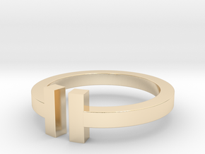 T RING in 14k Gold Plated