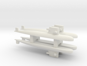 PLA[N] 039G Submarine x 4, 1/1800 in White Strong & Flexible