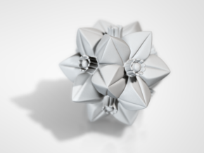 Escher Flower in White Strong & Flexible