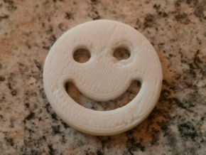 Shopping Cart Chip Smiley in White Strong & Flexible Polished
