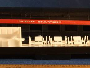 Athearn Heavyweight Passenger Diner Car Complete H in White Strong & Flexible