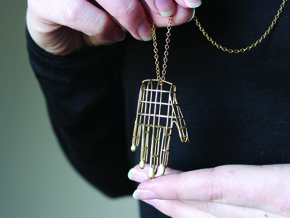 Hand Pendant in Polished Brass