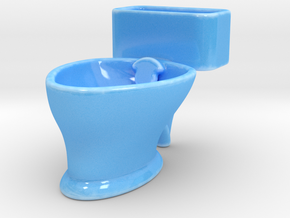 """Loo"" coffee cup in Gloss Blue Porcelain"