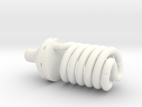 1:12 Light bulb #2 in White Strong & Flexible Polished