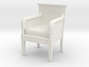 Period Armchair in White Strong & Flexible