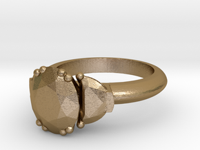 Ring 11 in Polished Gold Steel