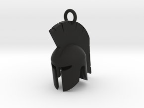 Spartan helmet keychain/pendant in Black Strong & Flexible