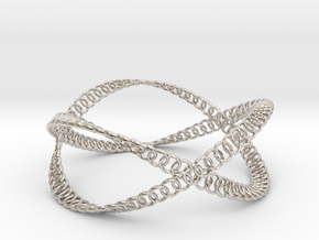 Swing Bangle Bracelet in Rhodium Plated