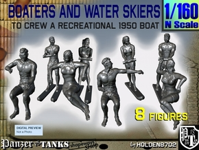 1-160 Boaters And Water Skiers Set in Frosted Extreme Detail