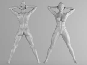 Fitness Girl 003 Scale 1/10 in White Strong & Flexible