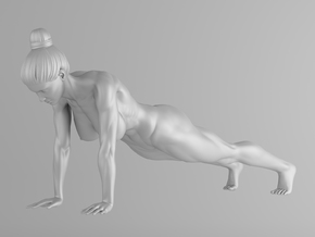 Fitness Girl 009 Scale 1/10 in White Strong & Flexible
