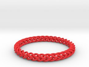 Circular Bracelet in Red Strong & Flexible Polished