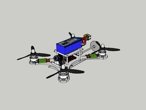 205mm Racing Quadcopter Frame - Q205v2 in White Strong & Flexible