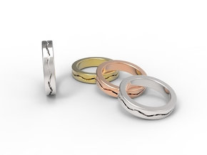 Ring CS02-flat in Polished Silver