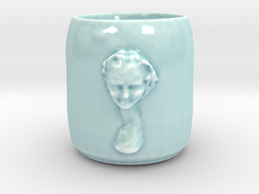 Bacchante cup (tall) in Gloss Celadon Green Porcelain