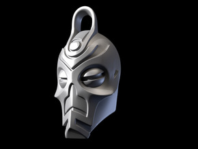 Dragon Priest Mask KeyChain in White Strong & Flexible Polished