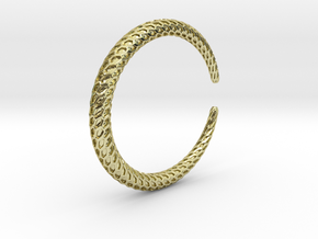Dragontail Solid Bracelet Thin in 18k Gold Plated