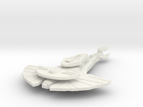 KingGalor Class  BattleCruiser in White Strong & Flexible