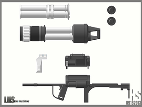 1/6 scale Rocket Launcher in White Strong & Flexible