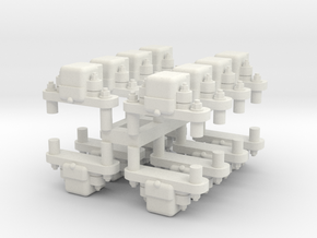 Gn15 grease axleboxs 16 off (for 4 cars) in White Strong & Flexible