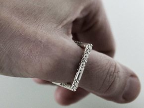 M3NG3R RING 21mm in Raw Silver