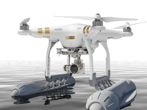 Renovatio Drone - Float for DJI Phantom in White Strong & Flexible