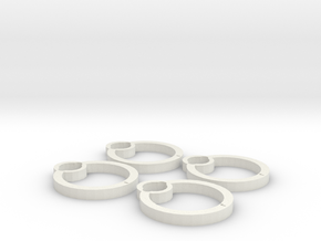 Blades protectors for Cheerson CX-10C in White Strong & Flexible