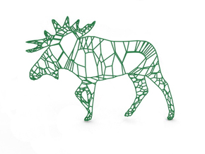 Moose in Green Strong & Flexible Polished