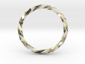 Twistium - Bracelet P=230mm in 14k White Gold