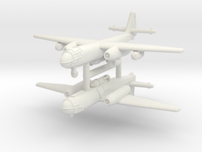 1/285 Arado Ar-234B-2 (x2) in White Strong & Flexible