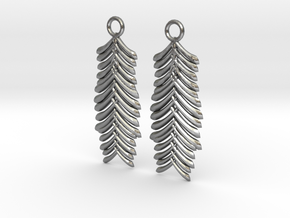 Quilted Sq Earrings ( Waves) in Raw Silver